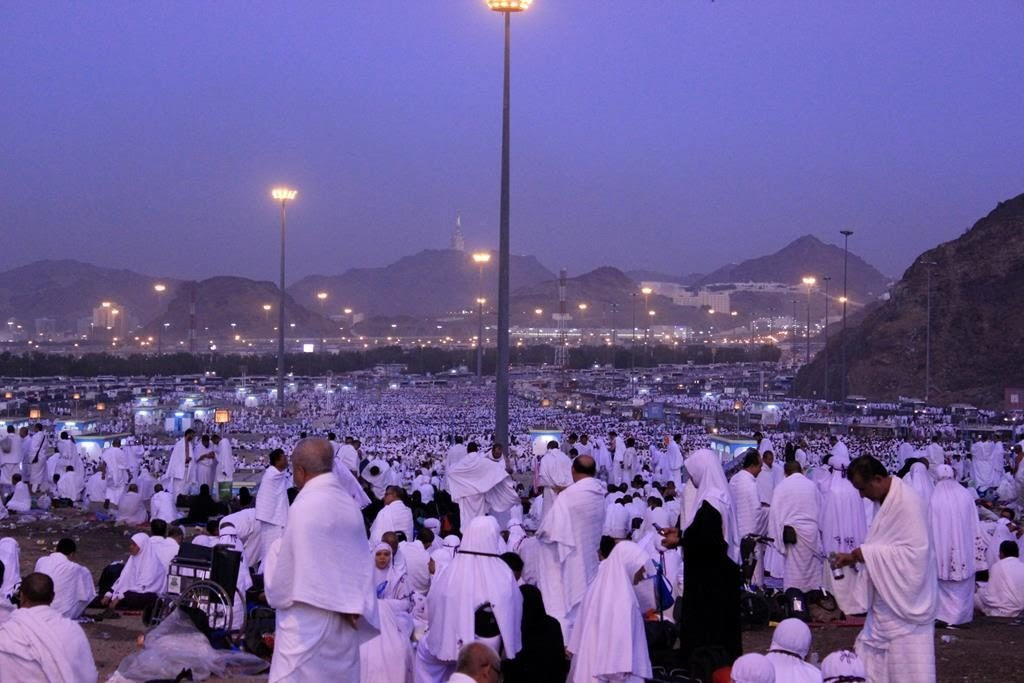 Pilgrims at Muzdalifah